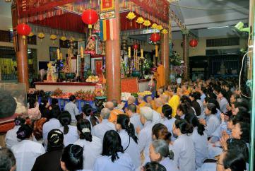 """Bình Dương: Khai khóa niệm Phật """"Bách Nhựt Trì Danh"""" tại Nhất Nguyên Bửu tự"""