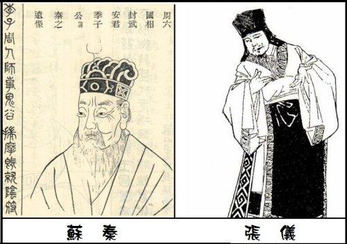 (Hình vẽ Tô Tần và Trương Nghi. Ảnh: Internet)