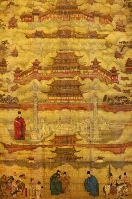 Tử Cấm Thành trong bức tranh từ thời nhà Minh, hiện được lưu giữ ở bảo tàng quốc gia tại Bắc Kinh
