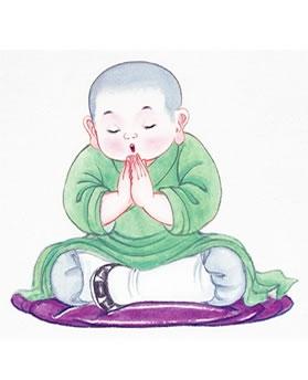 Kết quả hình ảnh cho Chú Sa Di Niệm Phật Vãng Sanh
