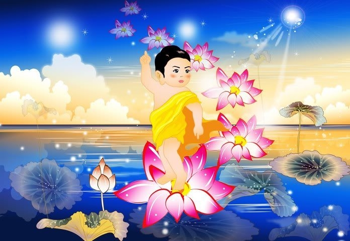 Kết quả hình ảnh cho Ý nghĩa Phật bước đi bảy bước nở Hoa sen