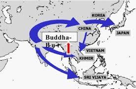 Bản đồ truyền bá Phật giáo đến các nước Á châu