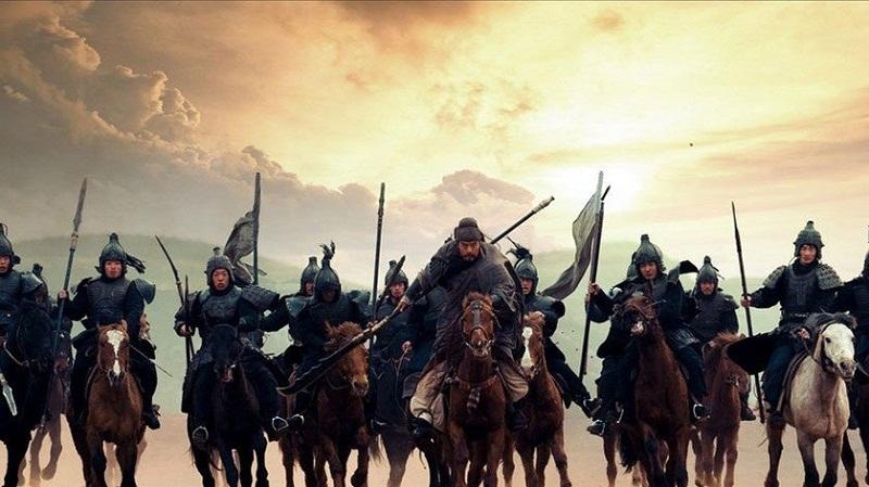 Quan Vũ dẫn 1000 quân mai phục ở bờ sông Bạch Hà chờ tín hiệu xả nước. (Ảnh: Internet)