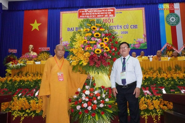 Chính thức Đại hội đại biểu Phật giáo huyện Củ Chi lần thứ X nhiệm kỳ 2021-2026 ảnh 16
