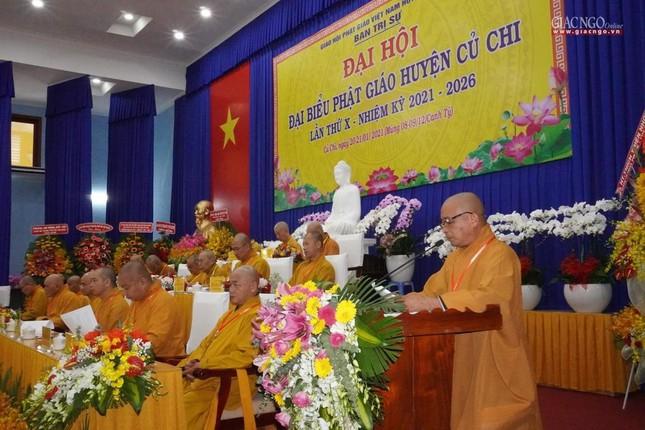 Chính thức Đại hội đại biểu Phật giáo huyện Củ Chi lần thứ X nhiệm kỳ 2021-2026 ảnh 3