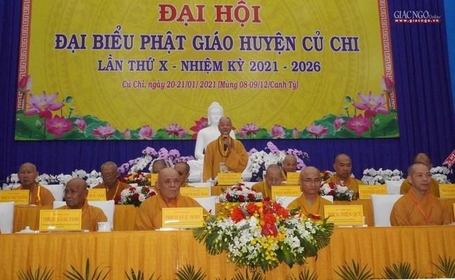 Chính thức Đại hội đại biểu Phật giáo huyện Củ Chi lần thứ X nhiệm kỳ 2021-2026 ảnh 6