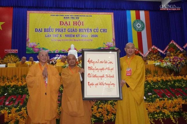 Chính thức Đại hội đại biểu Phật giáo huyện Củ Chi lần thứ X nhiệm kỳ 2021-2026 ảnh 27