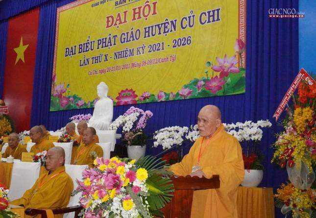 Chính thức Đại hội đại biểu Phật giáo huyện Củ Chi lần thứ X nhiệm kỳ 2021-2026 ảnh 2