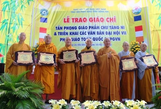 Lễ Tấn phong giáo chỉ Phật giáo của Giáo hội Phật giáo Việt Nam tỉnh Đồng Nai (ảnh: minh họa)